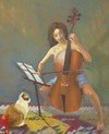 Cartoon: cello ve kedi (small) by devrimdemiral tagged devrim,demiral