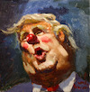 Cartoon: 365 Days with This Clown (small) by yllifinearts tagged donald,trump,president,usa,clown