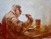 Cartoon: Soupe Break (small) by yllifinearts tagged eater,soupe,kitchen,table