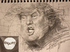 Cartoon: Trump (small) by yllifinearts tagged donald,trump,presidential,election,gop,hillery,clinton