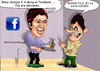 Cartoon: Facebook (small) by hakanipek tagged facebook,zuckerberg,tease