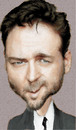 Cartoon: russell crowe (small) by hakanipek tagged russell,crowe