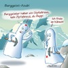 Cartoon: Bergge (small) by neufred tagged geister,gespenster,berge,gipfelkreuz