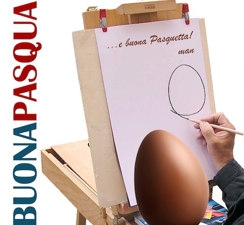 Cartoon: buona Pasqua 2017 (medium) by Enzo Maneglia Man tagged pasqua,2017,pasquetta,man
