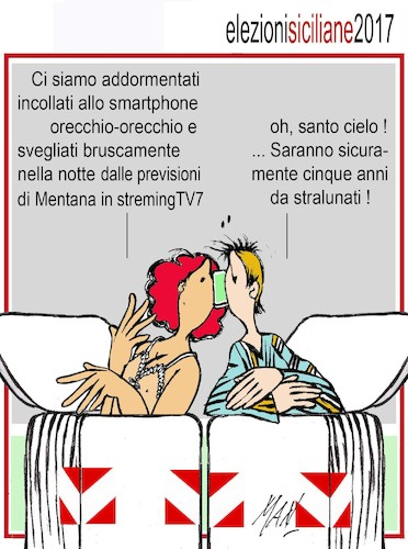 Cartoon: elezioni siciliane regionali 201 (medium) by Enzo Maneglia Man tagged vignette,umorismo,grafico,spilli,maneglia,man,fighillearte