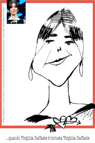 Cartoon: Virginia Raffaele (medium) by Enzo Maneglia Man tagged virginia,caricature,ritratti,raffaele,attrice,comica,imitatrice,conduttrice,radiofonica,televisiva,italiana
