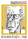 Cartoon: mario monti ad un anno (small) by Enzo Maneglia Man tagged caricatura,mario,monti,tagliritagli,supermario