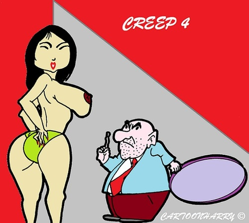 Cartoon: Creep4 (medium) by cartoonharry tagged creep4,creeps,pinup,sexy,girl,girls,cartoon,cartoonist,cartoonharry,dutch,toonpool