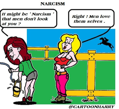 Cartoon: Narcism (medium) by cartoonharry tagged narcism