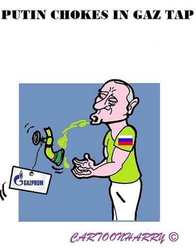 Cartoon: Putins Gaz Tap (medium) by cartoonharry tagged russia,putin,gaz,tap,choke