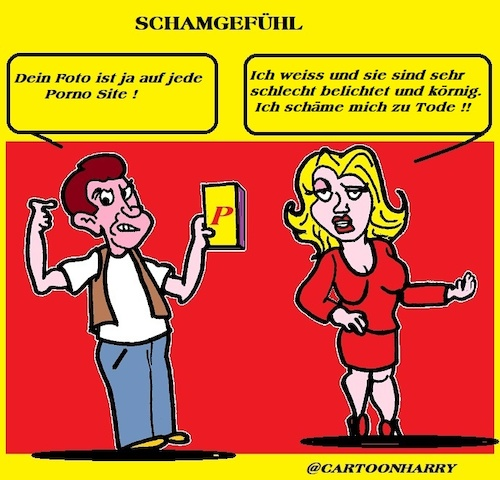 Cartoon: Schamgefühl (medium) by cartoonharry tagged schamgefühl,cartoonharry