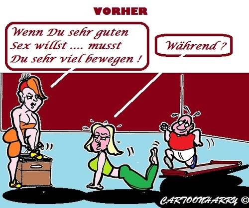 Cartoon: Waehrend (medium) by cartoonharry tagged waehrend,jetzt,fitness,sport