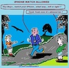 Cartoon: Allowed (small) by cartoonharry tagged allow,iphones,boys,jogger,cartoonharry