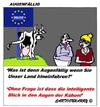 Cartoon: Augenfällig (small) by cartoonharry tagged augenfällig,kuh,belgien,intelligent,augen,cartoon,cartoonist,cartoonharry,dutch,toonpool