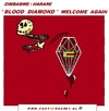Cartoon: Blood Diamond Welcome Again (small) by cartoonharry tagged blood,decision,diamond,welcome,cartoon,cartoonist,cartoonharry,dutch,europe,toonpool