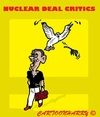 Cartoon: Critics (small) by cartoonharry tagged obama,nuclear,deal,iran,usa,critics,shit,peacepigeon