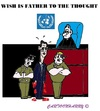 Cartoon: Father of the Thought (small) by cartoonharry tagged assad,un,trial,wish,blood,hands,syria,thought,toonpool