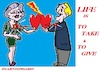 Cartoon: Give and Take (small) by cartoonharry tagged give,take,relationship