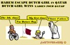 Cartoon: Harem Escape (small) by cartoonharry tagged qatar,sheik,harem,rape,dutch,girl,biker,tour,escape