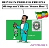 Cartoon: Heineken (small) by cartoonharry tagged heineken,oromo,teddyafro,ethiopia,beer