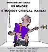 Cartoon: Karzai-Strategy Not Accepted (small) by cartoonharry tagged toilet,karzai,afghanistan,stay,strategy,accept,cartoonharry