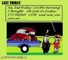 Cartoon: Last Friday (small) by cartoonharry tagged car,accident,friday