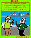 Cartoon: Mine (small) by cartoonharry tagged bar,talks,ad,mine