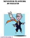 Cartoon: Minister Plasterk (small) by cartoonharry tagged nsa,bvd,cid,holland,plasterk