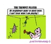Cartoon: Music (small) by cartoonharry tagged music,trumpet,player,noise,neighbours