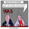 Cartoon: Nice Cup Of Coffee (small) by cartoonharry tagged cartoonharry