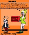 Cartoon: No Doubt About It (small) by cartoonharry tagged blond,doubt,present