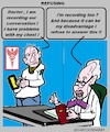 Cartoon: Refusing (small) by cartoonharry tagged refusing,recording