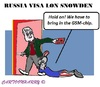 Cartoon: Russian Visa (small) by cartoonharry tagged russia,visa,usa,lonsnowden,snowden,toonpool