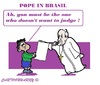 Cartoon: Silent Pope (small) by cartoonharry tagged brasil,pope,boy,silence,judge,toonpool
