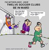 Cartoon: Soccer Clubs In Ward (small) by cartoonharry tagged ward,soccer,twelve,clubs,cartoonharry