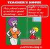 Cartoon: Teachers House (small) by cartoonharry tagged school,report,teacher,house,mom,son,spank