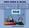 Cartoon: The Truth (small) by cartoonharry tagged bar,resto,drunk,eat,woman,man