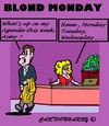 Cartoon: Whats Up (small) by cartoonharry tagged week,work,buro,chief,blond