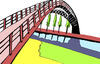 Cartoon: the link (small) by Dekeyser tagged bridge link landscape illustration