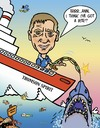 Cartoon: Big Game Fishing Caricature (small) by roundheadillustration tagged great,white,shark,cruise,fishing,ocean,sea