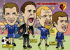 Cartoon: Watford FC Management Team (small) by roundheadillustration tagged football,soccer
