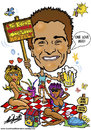 Cartoon: Zlato Fabris Caricature (small) by roundheadillustration tagged women,sexy,bikini