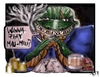 Cartoon: WANNA PLAY MAU- MAU (small) by joschoo tagged mau play cards smoking drinking bad mafia