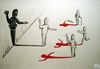 Cartoon: Without any words (small) by joschoo tagged terrorism,suicidbomber,war,global,revolution,fanatic,radicall