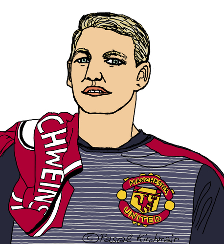 Cartoon: Bastian Schweinsteiger (medium) by Pascal Kirchmair tagged drawing,disegno,desenho,dibujo,zeichnung,dessin,illustration,united,manchester,cartoon,karikatur,caricature,schweinsteiger,bastian,foot,fußball,football,portrait,retrato,ritratto,football,fußball,foot,bastian,schweinsteiger,caricature,karikatur,cartoon,manchester,united,illustration,dessin,zeichnung,dibujo,desenho,disegno,drawing