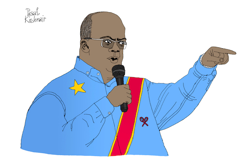 Cartoon: Felix Tshisekedi (medium) by Pascal Kirchmair tagged felix,tshisekedi,democratic,republic,of,the,congo,demokratische,republik,kongo,kinshasa,illustration,drawing,zeichnung,pascal,kirchmair,political,cartoon,caricature,karikatur,ilustracion,dibujo,desenho,ink,disegno,ilustracao,illustrazione,illustratie,dessin,de,presse,du,jour,art,day,tekening,teckning,cartum,vineta,comica,vignetta,caricatura,portrait,retrato,ritratto,portret,kunst,paris,france,president,politiker,politician,politics,präsident,felix,tshisekedi,democratic,republic,of,the,congo,demokratische,republik,kongo,kinshasa,illustration,drawing,zeichnung,pascal,kirchmair,political,cartoon,caricature,karikatur,ilustracion,dibujo,desenho,ink,disegno,ilustracao,illustrazione,illustratie,dessin,de,presse,du,jour,art,day,tekening,teckning,cartum,vineta,comica,vignetta,caricatura,portrait,retrato,ritratto,portret,kunst,paris,france,president,politiker,politician,politics,präsident