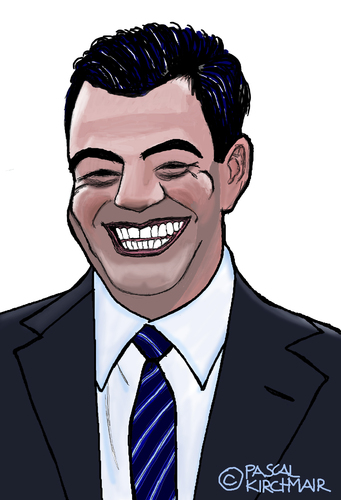 Cartoon: Jimmy Kimmel (medium) by Pascal Kirchmair tagged jimmy,kimmel,comedian,talkshow,moderator,cartoon,karikatur,caricature,abc,live,comedy,usa
