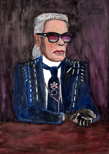 Cartoon: Karl Lagerfeld (medium) by Pascal Kirchmair tagged ligne,linie,modelinie,hot,haute,couture,grand,couturier,paris,hamburg,rom,rome,roma,kaiser,karl,lagerfeld,mode,modeschöpfer,fashion,line,house,modelabel,modehaus,maison,chanel,fendi,zeichnung,illustration,drawing,pascal,kirchmair,irische,impressionen,cartoon,caricature,karikatur,ilustracion,dibujo,desenho,ink,disegno,ilustracao,illustrazione,illustratie,dessin,de,presse,du,jour,art,of,the,day,tekening,teckning,cartum,vineta,comica,vignetta,caricatura,portrait,retrato,ritratto,portret,aquarelle,watercolor,watercolour,acquarello,acuarela,aguarela,aquarela,german,germany,deutschland,artist,modezar,artiste,artista,genie,ligne,linie,modelinie,hot,haute,couture,grand,couturier,paris,hamburg,rom,rome,roma,kaiser,karl,lagerfeld,mode,modeschöpfer,fashion,line,house,modelabel,modehaus,maison,chanel,fendi,zeichnung,illustration,drawing,pascal,kirchmair,irische,impressionen,cartoon,caricature,karikatur,ilustracion,dibujo,desenho,ink,disegno,ilustracao,illustrazione,illustratie,dessin,de,presse,du,jour,art,of,the,day,tekening,teckning,cartum,vineta,comica,vignetta,caricatura,portrait,retrato,ritratto,portret,aquarelle,watercolor,watercolour,acquarello,acuarela,aguarela,aquarela,german,germany,deutschland,artist,modezar,artiste,artista,genie
