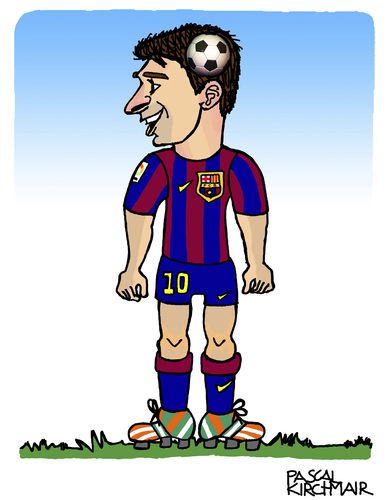 Cartoon: Lionel Messi (medium) by Pascal Kirchmair tagged lionel,leo,messi,caricature,karikatur,cartoon,fußball,soccer,foot,football,fc,barcelona,lionel,leo,messi,caricature,karikatur,cartoon,fußball,soccer,foot,football,fc,barcelona
