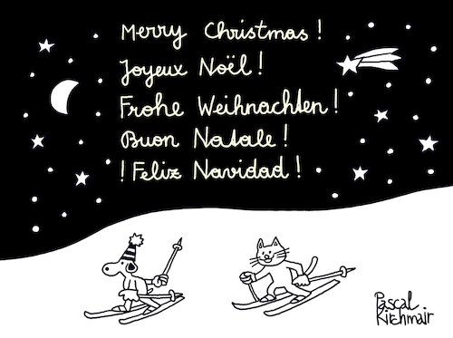 Cartoon: Merry Christmas! (medium) by Pascal Kirchmair tagged merry,christmas,xmas,card,frohe,weihnachten,weihnachtskarte,tarjeta,feliz,navidad,cartolina,buon,natale,cartao,natal,carte,de,joyeux,noel,pascal,kirchmair,illustration,drawing,zeichnung,political,cartoon,caricature,karikatur,ilustracion,dibujo,desenho,ink,disegno,ilustracao,illustrazione,illustratie,dessin,du,jour,art,of,the,day,tekening,teckning,cartum,vineta,comica,vignetta,caricatura,kunst,merry,christmas,xmas,card,frohe,weihnachten,weihnachtskarte,tarjeta,feliz,navidad,cartolina,buon,natale,cartao,natal,carte,de,joyeux,noel,pascal,kirchmair,illustration,drawing,zeichnung,political,cartoon,caricature,karikatur,ilustracion,dibujo,desenho,ink,disegno,ilustracao,illustrazione,illustratie,dessin,du,jour,art,of,the,day,tekening,teckning,cartum,vineta,comica,vignetta,caricatura,kunst